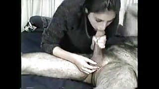 desi girl gives blowjob and oral creampie to a monkey