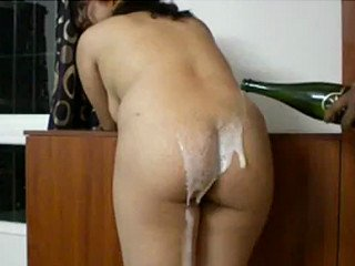 Desi Bhabhi ass nailed after pouring drink in her ass