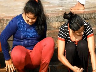 Desi Sisters Under Destruction Showing huge Bubbly Cleavage