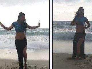 Sexy Desi Belly Dance on Beach