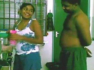 Srilankan Coupls fucking in kitchen