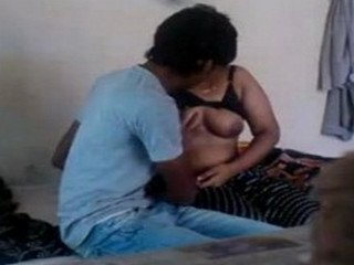 Indian Unsatsifed desi bhabhi with her young brother in law at his room
