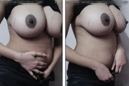 Big boobs desposlut in black dress showing ass crack and big boobs