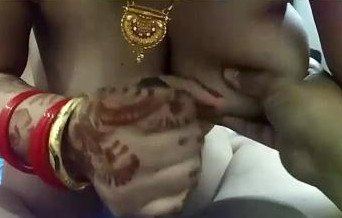 Newly married bhabi stroking hubby's cock, says
