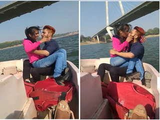 Exclusive- Indian Couple Romance On Boat
