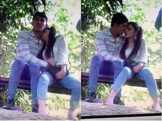 Today Exclusive- Nepali Lover OutDoor Romance Capture By CC tv
