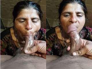 Today Exclusive- Desi Randi Blowjob Part 1