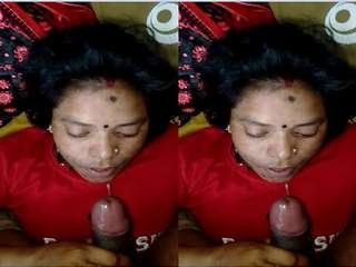 Today Exclusive- Mallu Bhabhi Blowjob and Eating Cum