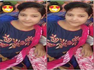 Today Exclusive- Desi Girl Record Nude Selfie For Lover
