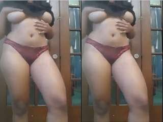 Today Exclusive- Horny Desi Girl Strip her Cloths and Fingering part 2