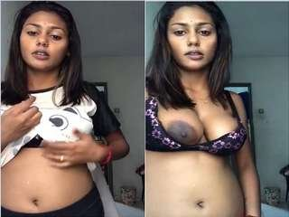 Today Exclusive- CUte tamil Girl Showing her Nude Body On Video Call Part 2