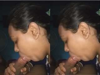 Today Exclusive- Desi Bhabhi  Blowjob and Record Her Boobs Video Part 1