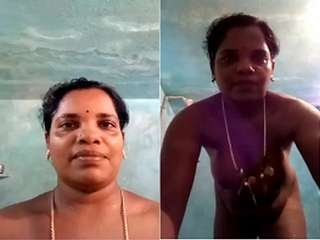 Today Exclusive- Tamil Bhabhi Record her Nude bathing Video For Lover
