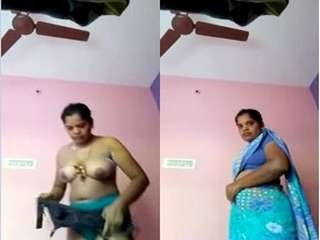 Today Exclusive-Tamil Bhabhi Record her Bathing and Wearing Video For Lover Part 1