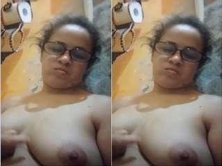 Today Exclusive- Horny Bhabhi Record Her Nude Selfie