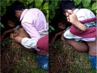 Today Exclusive- Village Girl Out Door Fucking
