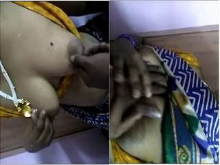 Exclusive- Desi Horny Maid Boob Pressing By House owner