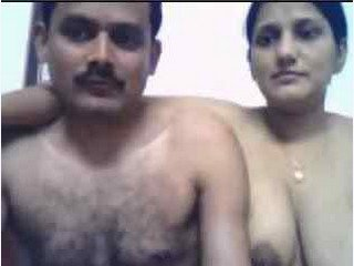 Not much action,but sweet couple with hot Boobs