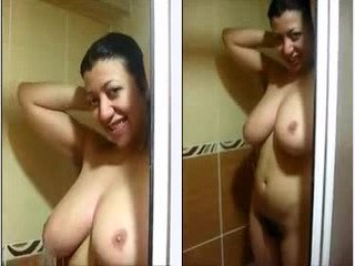 Beautiful Aunty with big boobs and hairy pussy