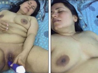 Desi Anna Baji playing with sex toys and finger