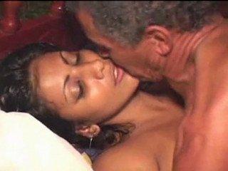 Latino Babe Banged By Lucky Old Man