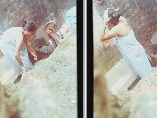 Hot Neighbor Desi Boudi Bathing Caught by Hidden Cam