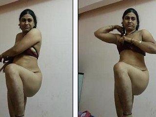Desi randi bhabhi Shabnam nude dressing after fuck – new video