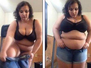 Chubby bbw chick hot body show
