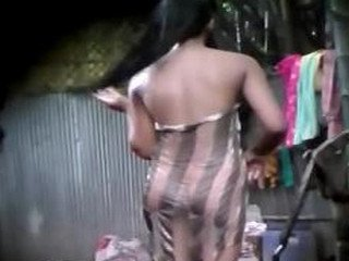 Village girl hidden capture after bath