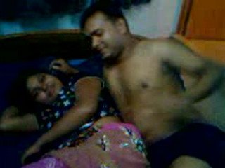 Desi young couple romance with sucked