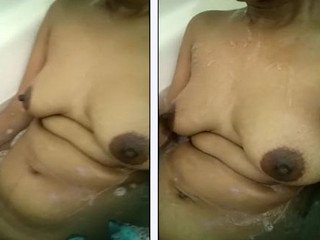 Desi wife naked in bathtub