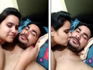 Beautiful newly married couple hot kiss