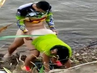river side fuck caught in cam