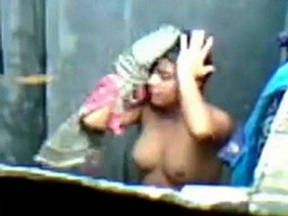 indian Girl Happy bathing recorded by neighbour