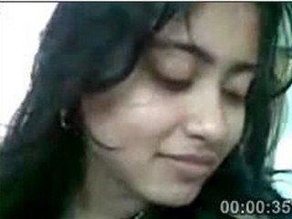 Cute girl Trisha stripped by lover in cam