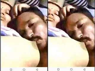 Today Exclusive- Desi Village Wife Boob Sucking