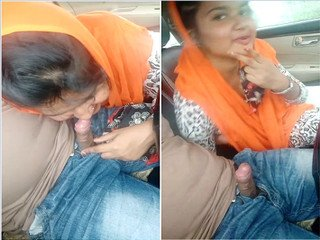 Exclusive- Sexy Indian Girl Sucking lover Dick On Car