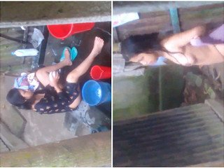 Exclusive- Girl OutDoor Bathing