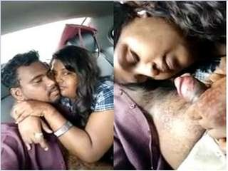 Today Exclusive-Telugu Girl Sucking Lover Dick On Car