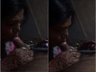 Today Exclusive -Sexy Bhabhi Sucking Dick
