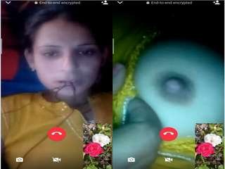 Today Exclusive- Sexy Bihari Girl Showing Her Boobs On Video Call Part 7