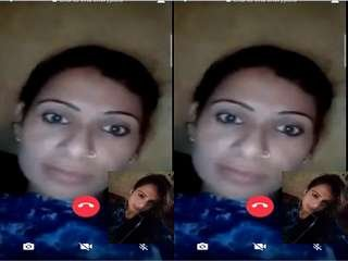 Today Exclusive- Sexy Bihari Girl Showing Her Boobs On Video Call Part 4