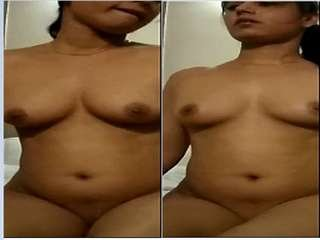 Today Exclusive- Sexy Desi Girl Blowjob and Nude Video Record By Lover Part 5