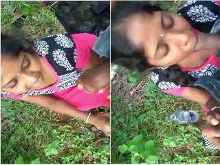 Exclusive- Telugu Girl Outdoor Blowjob