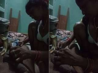 Today Exclusive-Village Bhabhi Shaving Hubby Dick
