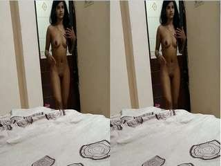 Today Exclusive- Cute Desi Girl Wearing Cloths after bath Record By BF