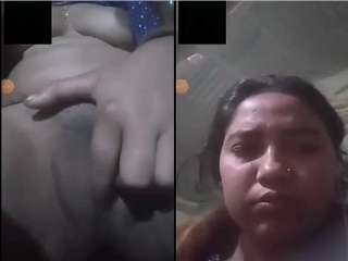 Today Exclusive- Bengali Girl Showing Her Boobs and Pussy On Video Call Part 12