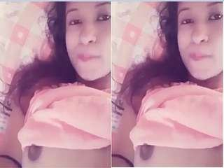 Today Exclusive-  Cute Girl Fingering On Video Call