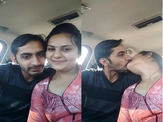 Indian Lover Car Romance  and Kissing