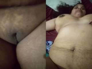 Today Exclusive- Desi BBW Bhabhi Nude Video Record By Hubby